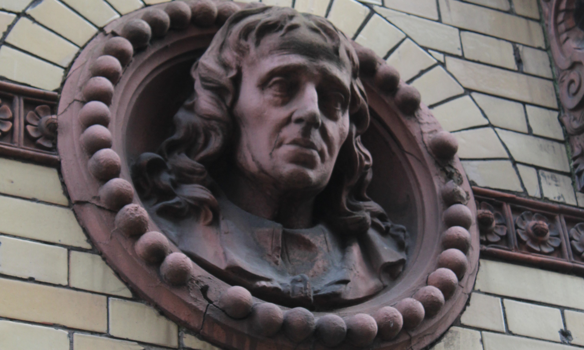 Head of John Milton 13 Saint Stephens St, Bristol